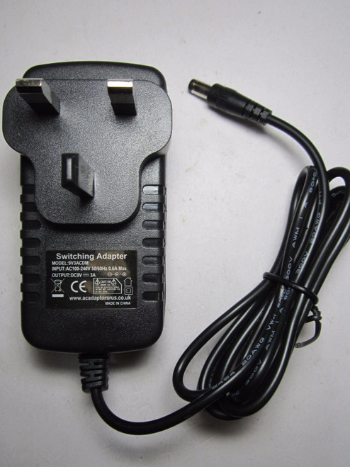 Replacement 9V 3A AC Power Adaptor for Majority Castle DAB Radio CB3A-CDAB-BLK