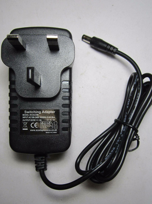 Replacement UK 9V 2.5A AC Adaptor Power Supply for KZ0902500 fits Bush Ipod Dock