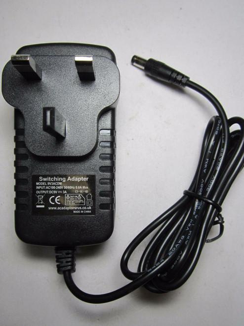 DC 9V 3A Switching Power Supply for BI BI30-090300-AdB AC Adaptor UK Plug