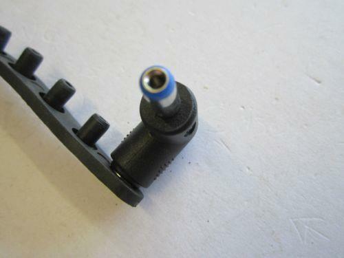 DC Push On Tip Female 5.5mmx2.1mm to Male 5.5mm x 2.1mm 5.5x2.1 Blue 90 Degree