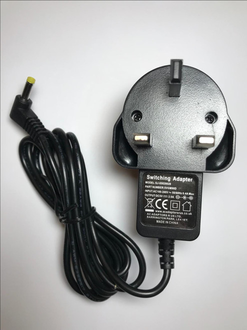 Replacement 5V AC Power Adaptor for Bush DAB/FM Radio BD1709 KA1508-050100BSS