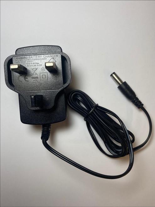 UK 23V DC 400mA AC-DC Adaptor Power Supply Charger for Qualcast Model SH-18V400