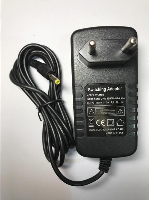 Coby Portable DVD Player 9V 1A 4mmx1.7mm Mains Charger AC Power Adaptor EU Plug