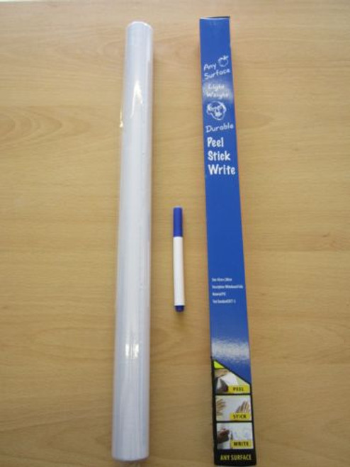 Large Roll Peel Adhesive Sticky Back White Board Whiteboard Stick on Kids Door