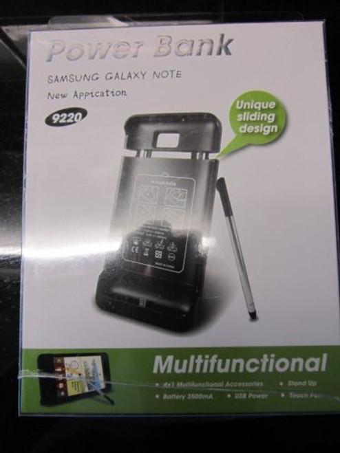 3500mAh External Battery Power Bank Stand Sliding Dock Samsung Galaxy Note 9220