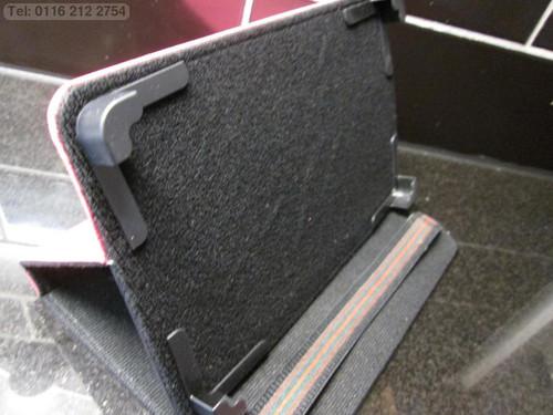 """Dark Pink 4 Corner Grab Angle Case/Stand for Adspec AdTab 7 Lite 7"""" inch Tablet"""