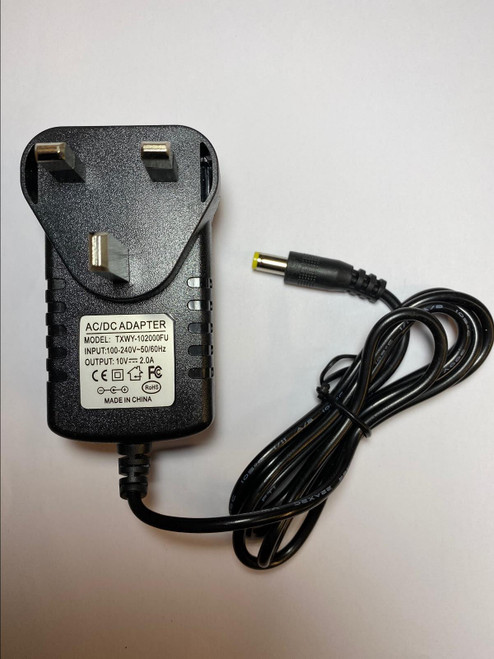 Replacement for 10V 2A 2.0A AC-DC Adapter Power Supply model TPW-1002000 UK Plug