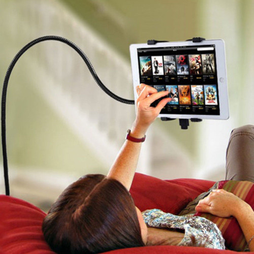 360° Flexible Lazy Tablet Holder, iPad Mini Rotation Stand Adjustable Clamp Clip