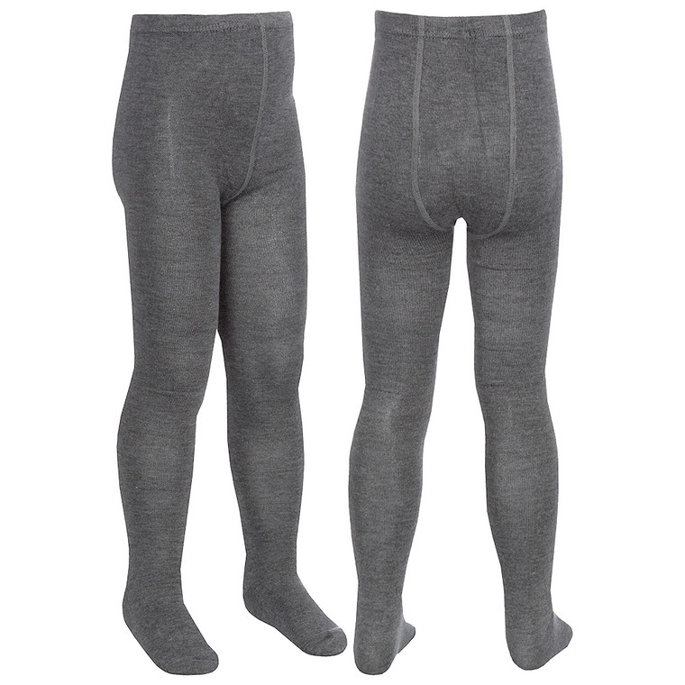 Girls Plain Back To School Tights Grey - 3 Pairs