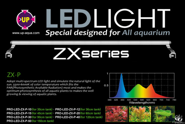 UP-Aqua New Pro LED Light ZX-P 150cm