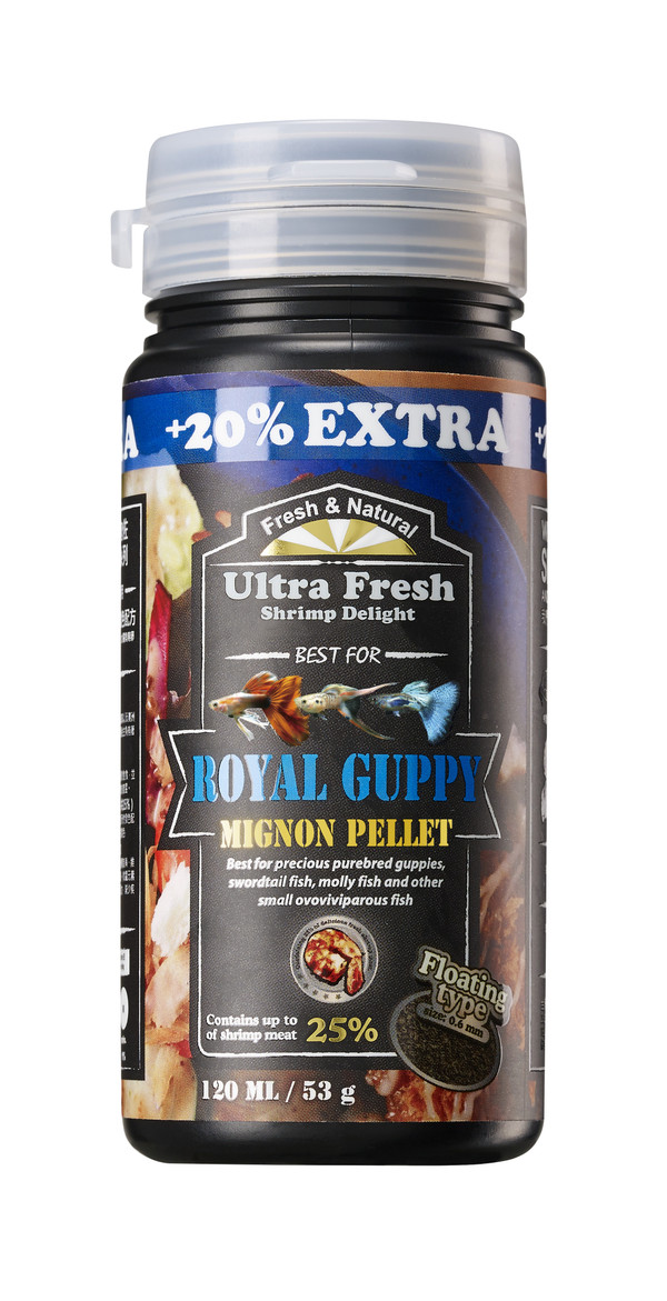 Ultra Fresh Royal Guppy Mignon Pellet 120mL