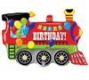 "Helium Birthday Train Balloon Extra Large- 37"""