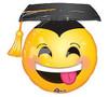 "Helium Graduation Emoji Balloon Large- 26x25"""