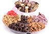 Chocolate Candy 2 Tier Platter- Pink          Local Delivery Only