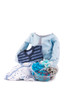 Blue Baby Outfit with Platter (Displayed in Acrylic Cylinder)