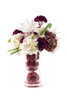Floral Centerpiece With Glass Vase and Balls