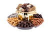 Chocolate, Candy, Nut Elegant Double Tier Platter- Local Delivery Only