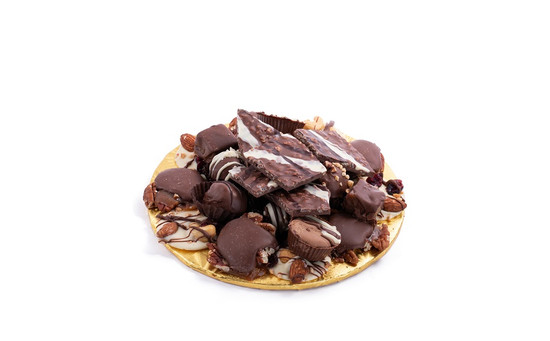"Milk Chocolate Platter-7"" Round"