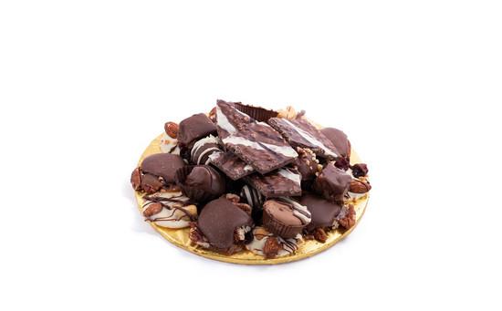 "Milk Chocolate Platter-7"" Round"
