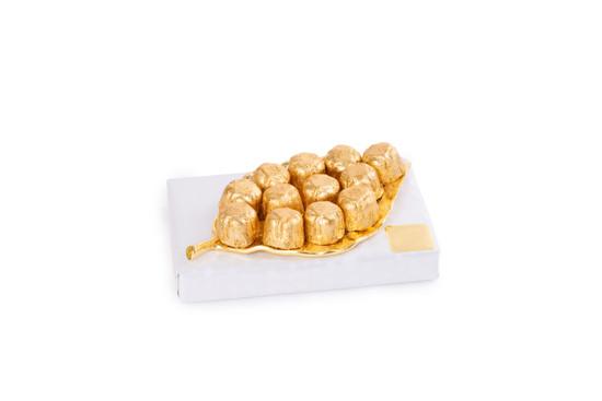 Gold Leaf Tray With Praline Truffles