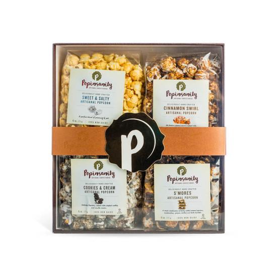 Popinsanity Artisan Popcorn Gift Box-4 Flavors