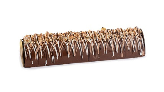 Praline Chocolate Log With Nut Crunch-14""