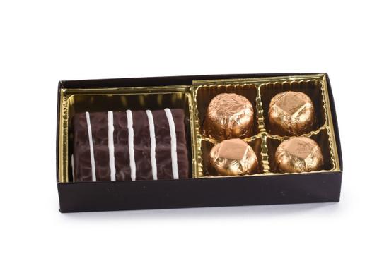 Chocolate Graham And Praline Truffles