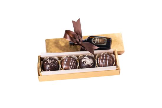 Gold Box Halva & Truffle Balls With Liquor