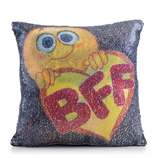 Besties Forever Sequin Pillow