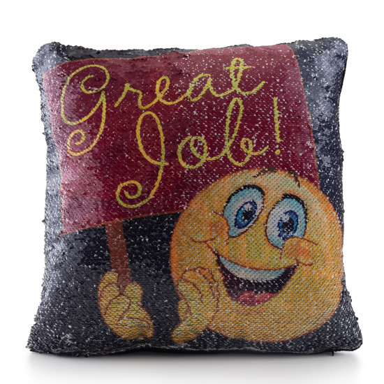 Great Job Sequin Pillow