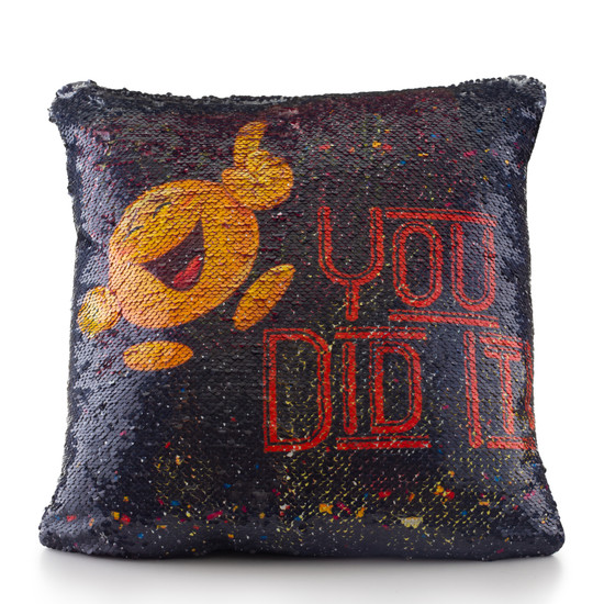 Great Job Sequin Pillow