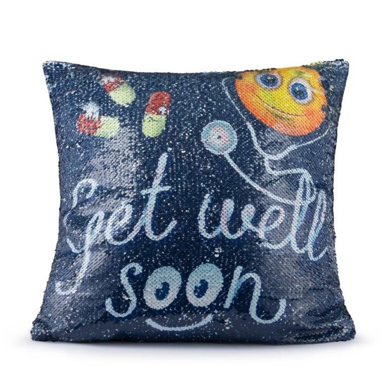 Get Well Soon Sequin Pillow