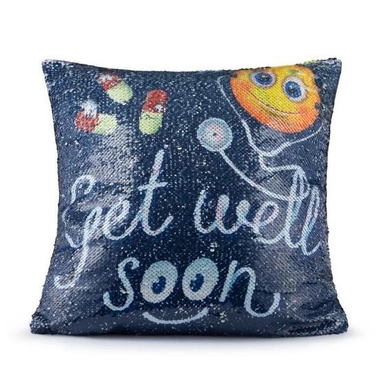 Get Well Soon Sequin Pillow