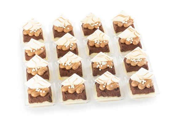 Miniature Pareve Two Tone Cheese Cakes-16 Pc