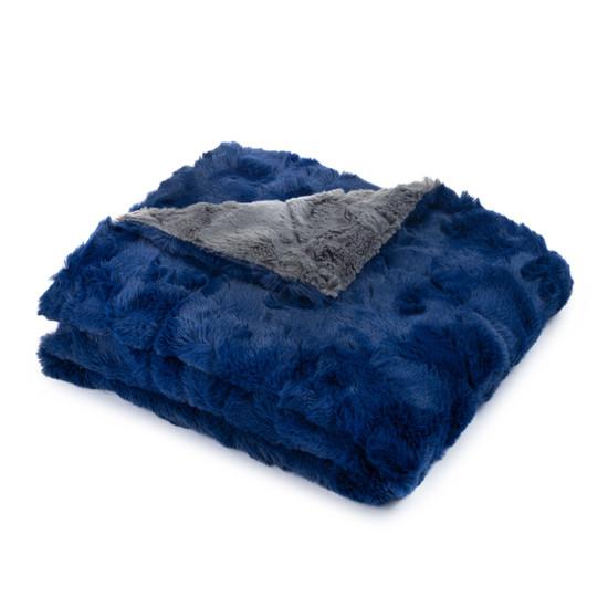 Blue Grey Soft Blanket