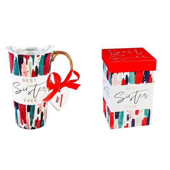 Ceramic Travel Mug- Sister
