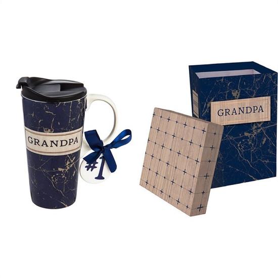 Ceramic Travel Mug-Grandpa