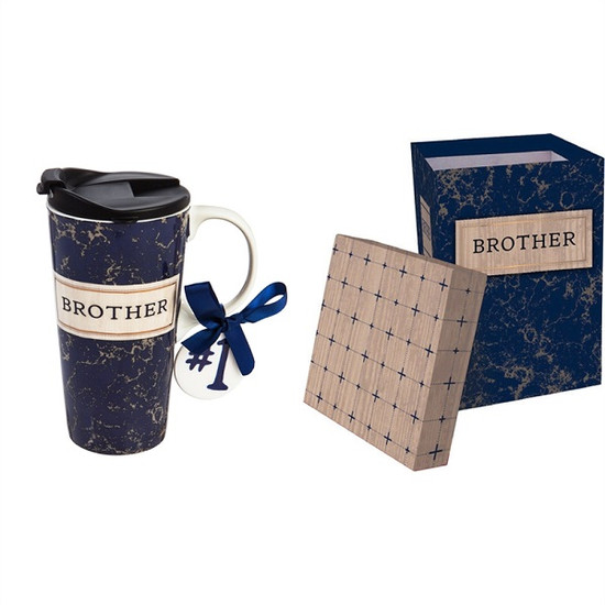 Ceramic Travel Mug-Brother