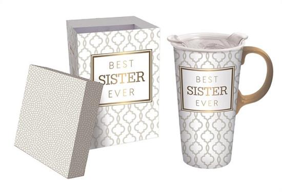 Ceramic Travel Mug - Sister
