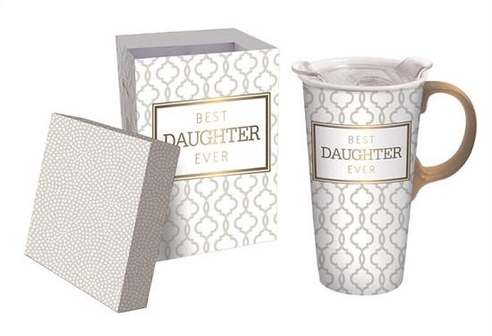 Ceramic Travel Mug-  Daughter