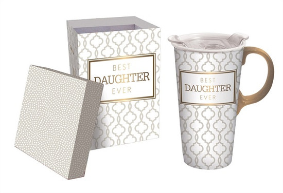 Ceramic Travel Mug-  Daughter