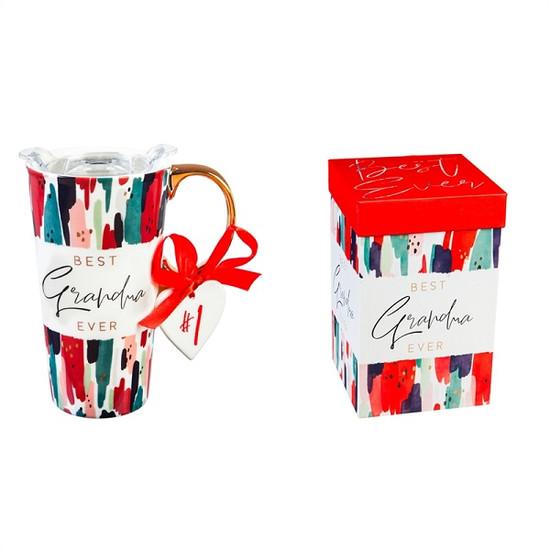 Ceramic Travel Mug-  Grandma