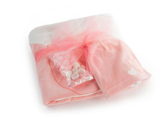 Baby Blanket & Hat -Pink