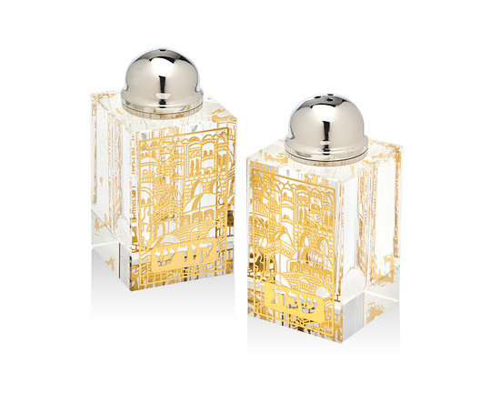 Crystal & Silver Salt & Pepper -Gold