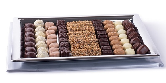 Assorted Truffles On Silver Tray