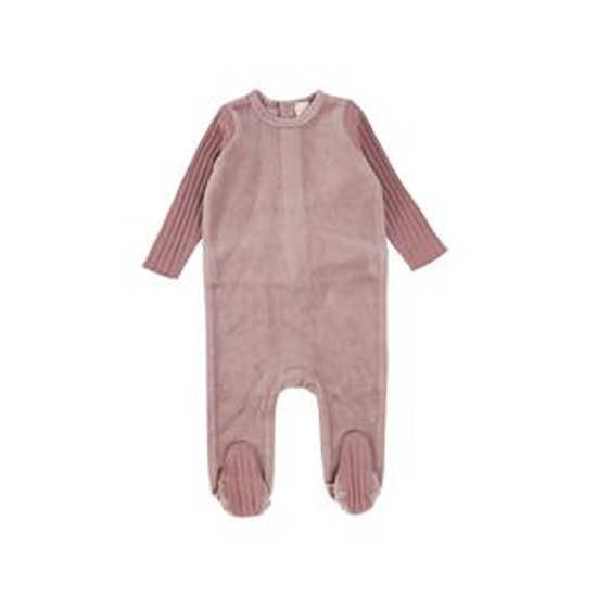 Velour/Ribbed Lavender Footie