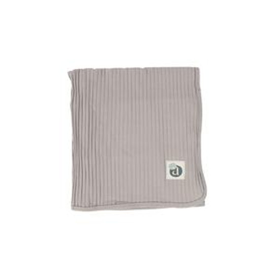 Wide Ribbed Blanket Dove Grey