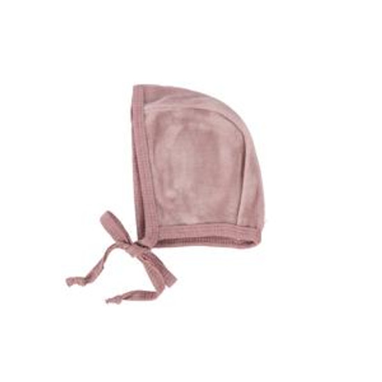 Velour Bonnet Sunset Rose