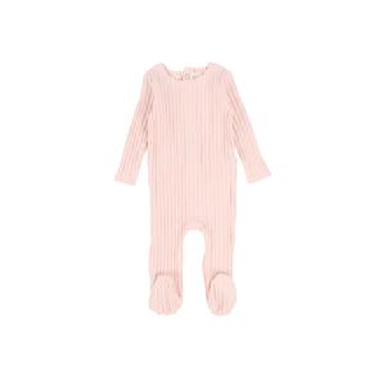 Wide Ribbed Footie Baby Pink