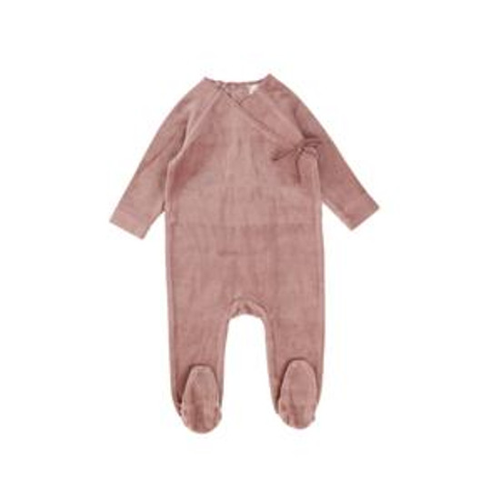 Velour Wrap Footie Blush
